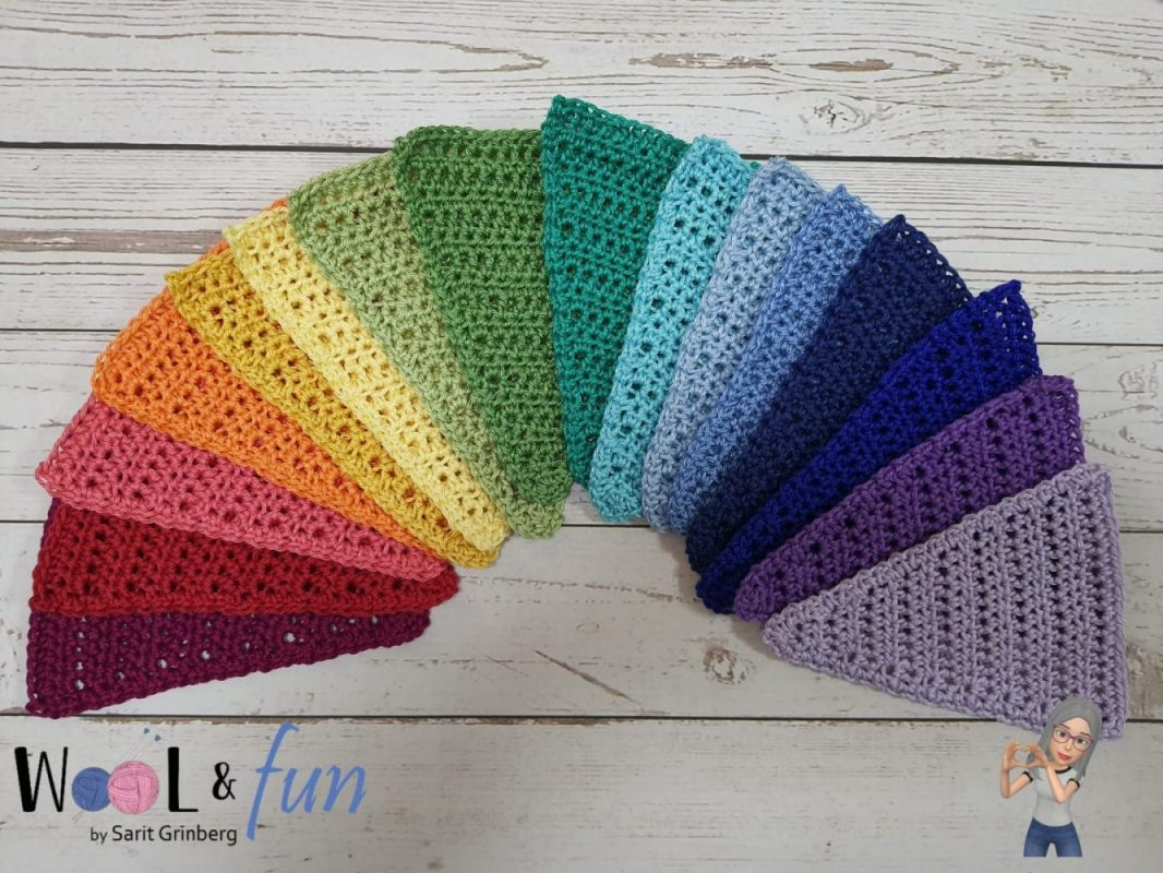 דגלי קשת משולשים – Rainbow Triangular Flags